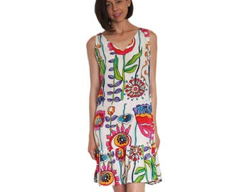 Floral Silk Sun Dress - Sale