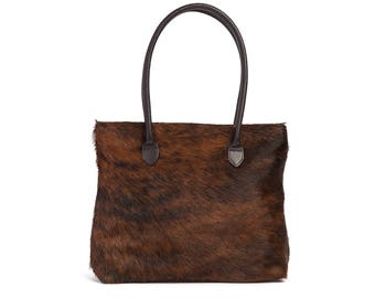Cowhide Bags | Handcrafted Cowhide Handbag | Cowhide Tote | The Foxley