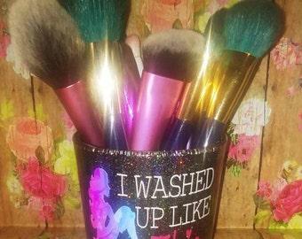 Mermaid Makeup Brush Holder // I Washed Up Like This