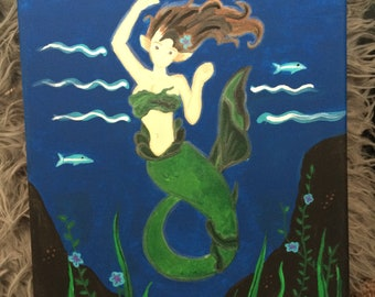 Mermaid Glow-in-the-Dark Painting