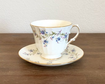 Duchess Tranquility Bone China Tea Cup & Saucer; Footed Tea Cup; Vintage Tea Set; English Bone China; Vintage Teacup