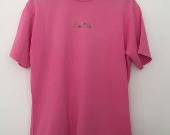 Benetton / vintage t shit / vintage tshirts / pink tshirt / 90s tshirt / 90s clothing / made in Italy / summer tshirts / t shirt women