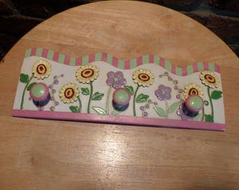 Necklace holder, Scarf Holder, Floral Scarf holder, floral decor, bathroom decor, bedroom decor, belt holder, scarf holder