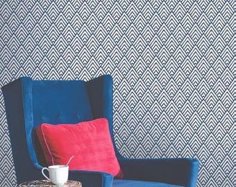 Geometric wallpaper, self adhesive, temporary, removable nursery mb097