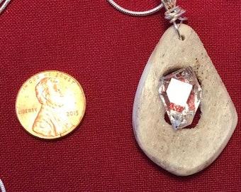 Herkimer/Deer Antler Necklace