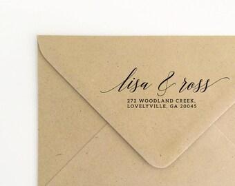 Couples Return Address Rubber Stamp, Holiday Stamp, Stationery Address Stamp, Custom  Stamp, Christmas Stamp, Return Address  (SADDR158)