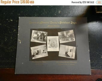 Summer Sale Vintage Scenes of Admiral Deweys Childhood Days Large Cabinet Card