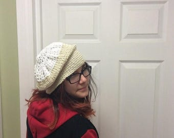 Clearance Sale Crocheted Beret, Crocheted Slouchie Hat, Woman's Hat,
