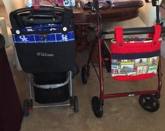 Stroller/walker/scooter quilted bag