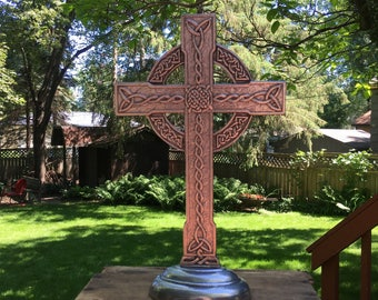 Celtic Standing Cross Metal Catholic Cross