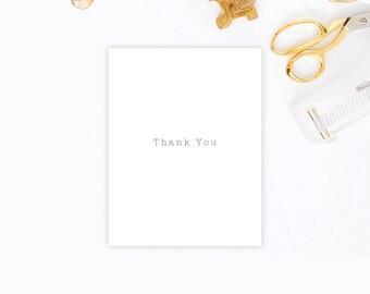 """001 """"Typewriter"""" Thank You Card Set   Envely Cards"""