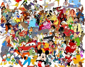 """ON SALE Counted Cross Stitch Patterns - All characters of Disney - 35.43"""" x 35.43"""" - L007"""