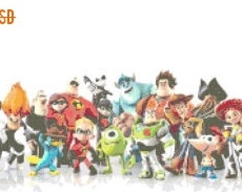 """infinity characters Cross Stitch infinity characters pattern needlepoint, kreuzstichvorlagen - 22.79"""" x 24.00"""" - L558"""