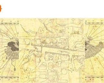 """marauder map Counted Cross Stitch Harry Potter Pattern big complete marauder's map Harry Potter - 95.64"""" x 20.50"""" - L1333"""