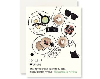 Funny Birthday Card Friend / Best Friend Birthday Card / Birthday Card for Her / Girlfriend Birthday Card / Birthday Cards / Funny Birthday