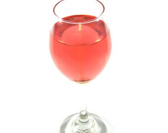 White Zinfandel Scented Gel Candle in 13 oz. Wine Glass