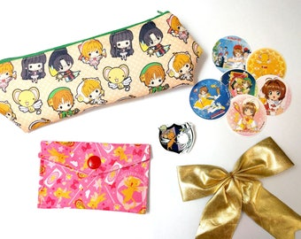Card Captor Sakura Gift Set Anime  Pencil case Coin Purse Pin Stickers Clamp Shyaoran Kero