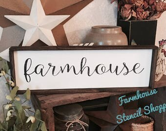 "STENCIL, farmhouse, script stencil, 18""x4"", reusable stencils, stencils, plastic stencils, farmhouse stencils, NOT A SIGN"