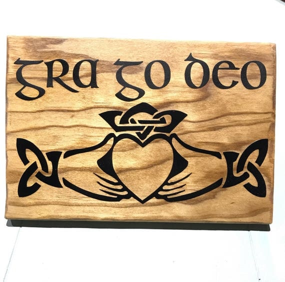 Sale Claddagh Sign Irish Blessing Wood Sign Celtic Cross