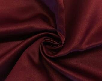 "Wine Matte Satin (Peau de Soie) Duchess Fabric Bridesmaid Dress 60"" Wide Sold BTY"