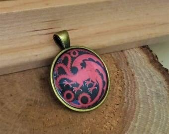 Game of Thrones Jewelry DAENERYS Necklace Targaryen DRAGON Pendant Costume Accessory