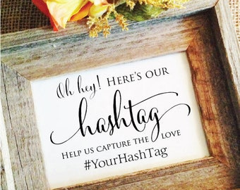 Wedding Hashtag Sign V3 Rustic Wedding Sign Rustic Wedding Decor help us capture the love rustic wedding decoration (Frame NOT included)