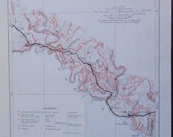 1933 Del Rio, Bullis, Feely, Rona, Shumla, Osman, Hijito Texas map, Val Verde County TX. Antique Original Railroad Map Southern Pacific