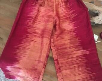 red orange short pants