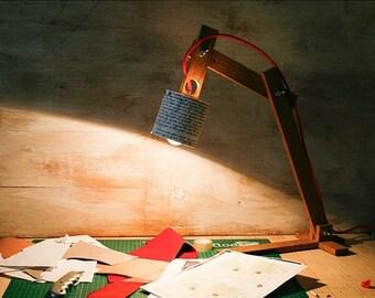 """10% OFF Wood desk lamp, Table lamps, lamps, lighting, desk lamps, wooden lamp, desk lamp, wood lamp, houseware, handmade lamp, lamp, """" Earth"""