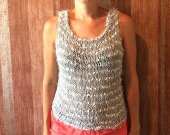 Handmade knit t-shirt