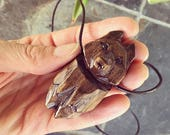 Wolf Totem Necklace, Hand...
