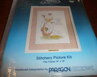 Vintage Paragon Precious Moments Stitchery Kit Make A Joyful Noise