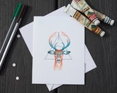 Deer Card | Art | Paper |...
