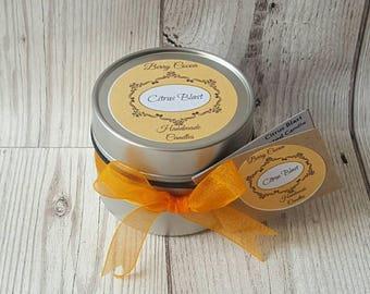 CITRUS BLAST SOY Candle, Eco Wick, Orange Soy Wax Candle, Lemon Soy Wax Candle, Citrus Soy Wax Candle, Fruity Candle, Orange Candle, Citrus