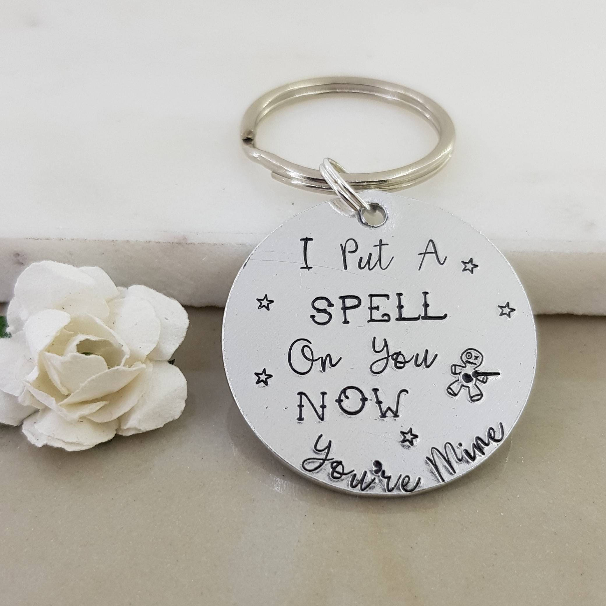 voodoo doll keyring i put a spell on you now you re mine tin