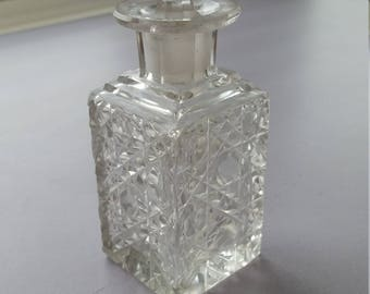 Perfume Bottle - Cut Crystal