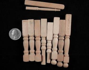 Beaucoup de travail mixte les pieds de meubles de maison de poupée, rampes d'escalier, pieds de chaises, en bois, mobilier de maison de poupée miniature, ensemble de bricolage, arts et métiers,