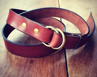 """Ring Belt"" Design by George Brown leather belt"