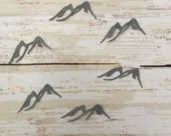 Mountain Peak Confetti & Vinyl Stickers