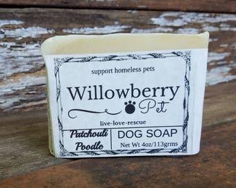 Dog Soap - Dog Shampoo Bar -  Pet Soap - Natural Pet Soap - Dog Soap Bar - Pet Shampoo Bar -  Natural Pet Care -  Patchouli Poodle -