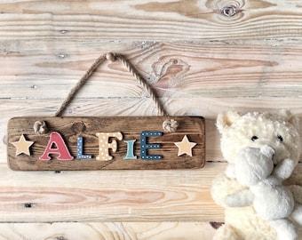 Personalised door plaque   Bedroom door sign   Bedroom door sign   Custom kid's room plaque   New baby gift   Baby shower   Name plate