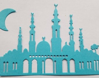 Mosque moon die cuts ramadan decoration card making scrapbooking islam muslim the holy month