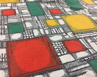 Vintage 50s Fabric 50 x 75 cm: Mid century geometric 50s