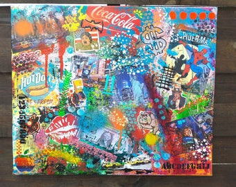 Street art, new york, mixed medias