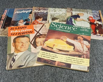 Assortment Of 7 Vintage Magazines From 1948-1951