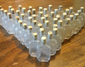 Mini Vintage Glass Bottles with new Cork Stoppers (48)I