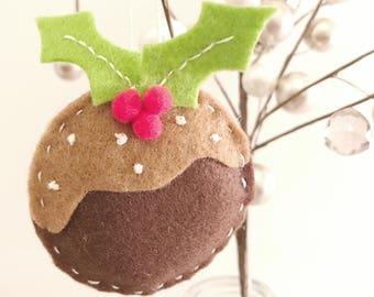 Handmade Christmas Pudding Decoration