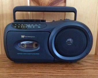 Portable Radio - AM FM Radio Cassette Player - Cassette Tape Player - Transistor Radio - Westinghouse Radio - Battery Radio