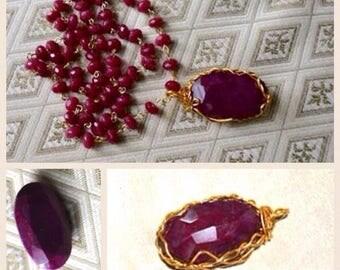 Corrumdum Ruby Pendant and necklace