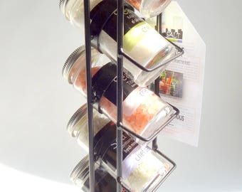 Metro Tower, 5 gourmet sea salts from around the world in a stylish metal rack